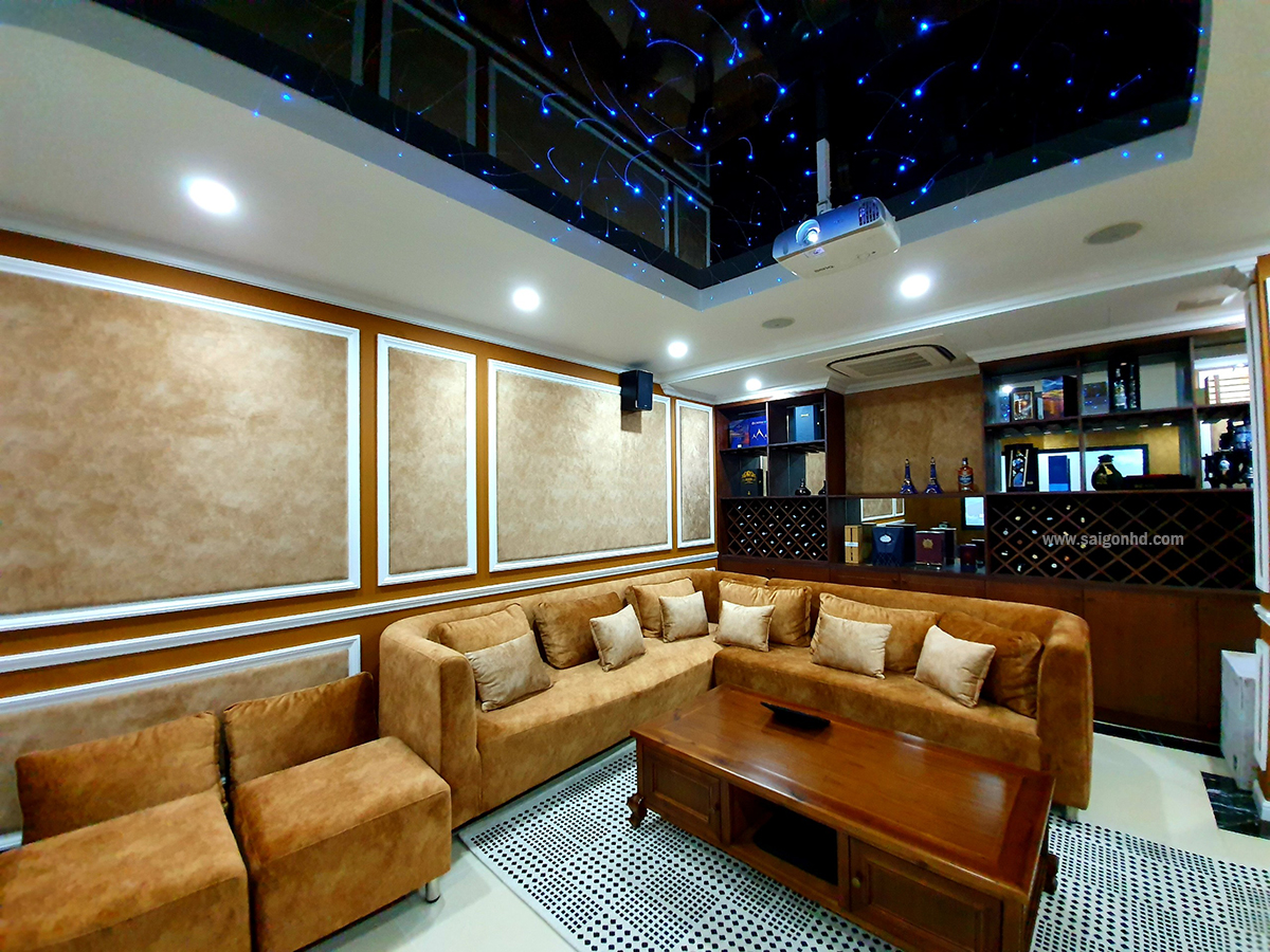 Phòng phim gia đình với style ấm cúng