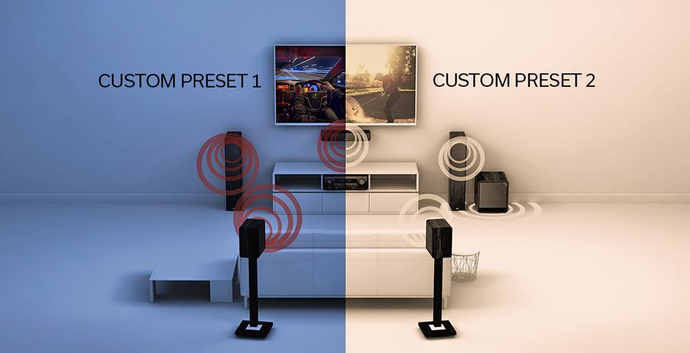Denon AVR-X2700H cho phép lưu trữ hai dạng cài đặt âm thanh Audyssey