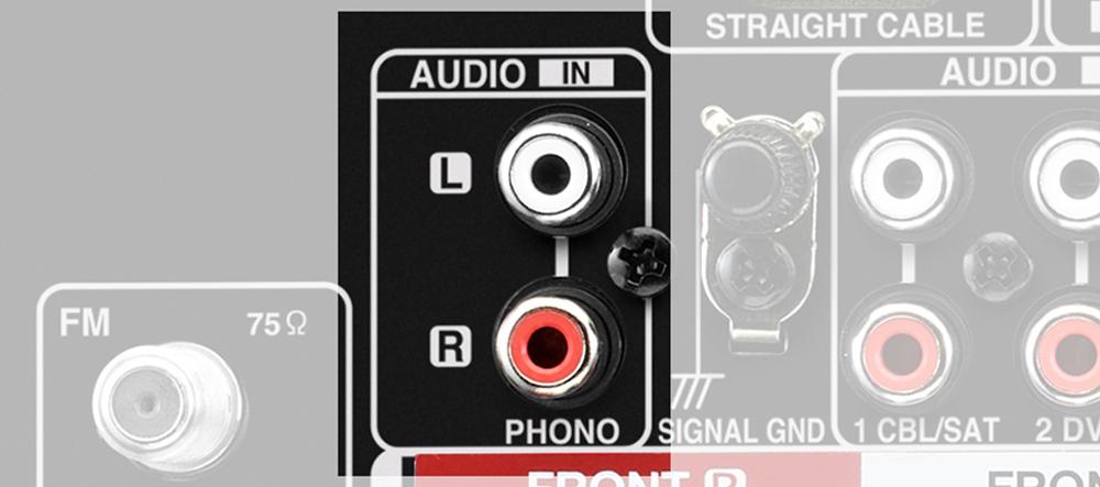 AVR-X2700H trang bị cổng phono cho phép bạn kết nối với mâm đĩa than