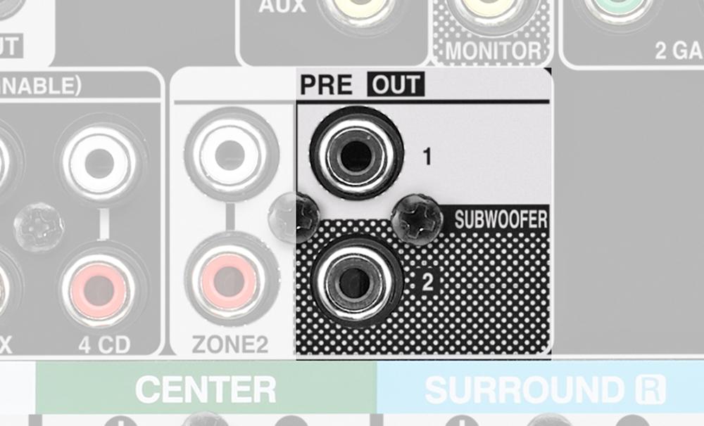 AVR-X2700H có đến hai cổng đầu ra dành cho loa Sub cho trải nghiệm xem phim hấp dẫn hơn.