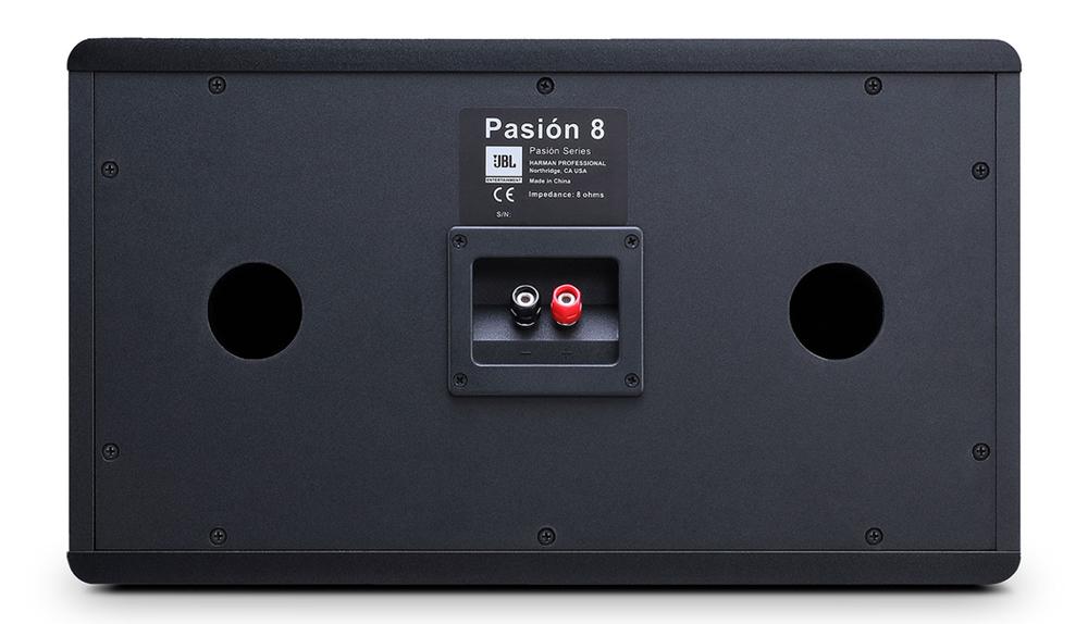 Mặt sau loa JBL Pasion 8 được trang bị 2 cổng thoát hơi bass