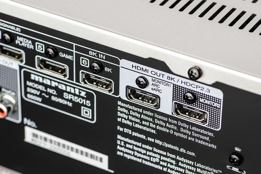 Marantz SR5015 có cổng eARC giúp khuếch đại âm thanh 3D từ TV đến loa