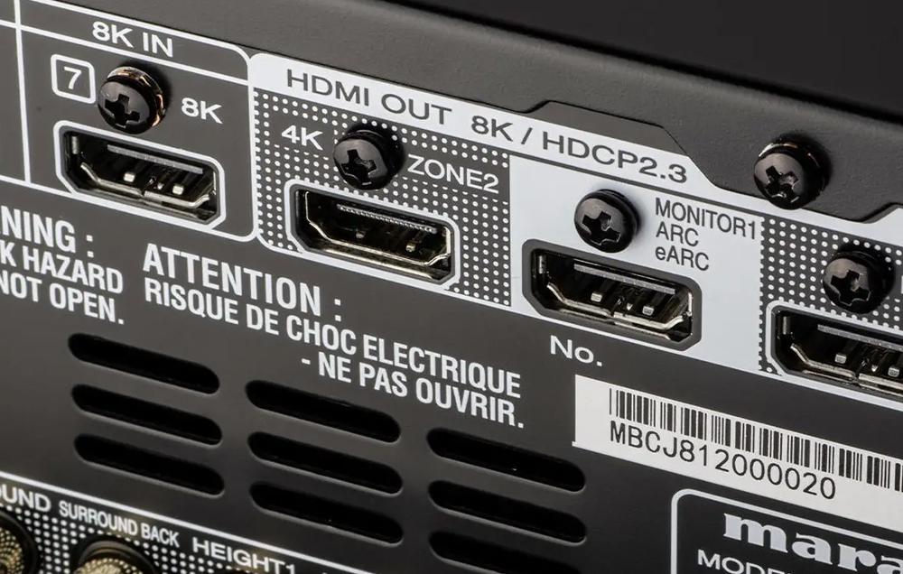 Marantz SR7015 có cổng eARC giúp khuếch đại âm thanh 3D từ TV đến loa