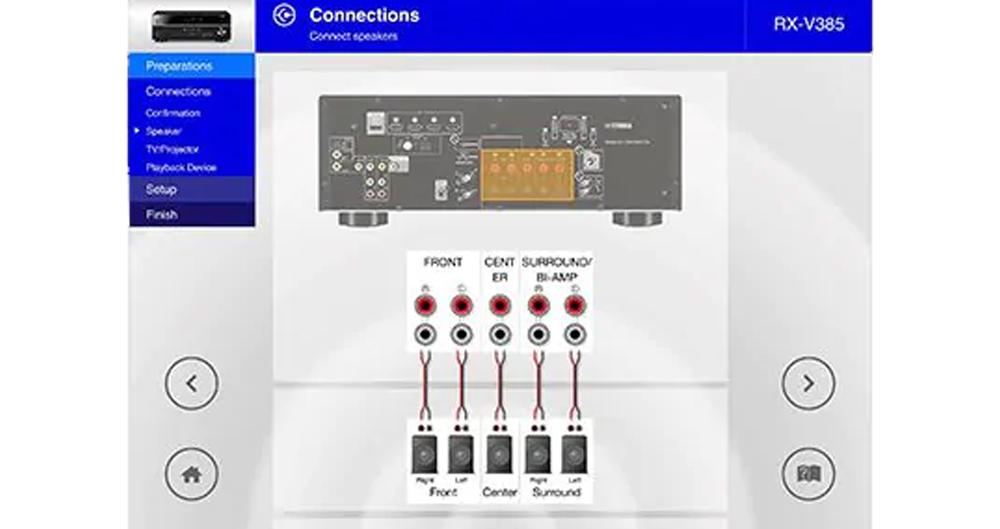 Thiết lập và kết nối RX V4A với hệ thống loa, TV trở nên đơn giản hơn nhờ AV Setup Guide App