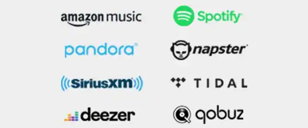 Lắng nghe bản nhạc yêu thích từ các dịch vụ phát nhạc trực tuyến được tích hợp sẵn trong RX V6A
